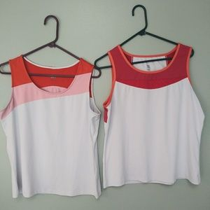 2 Tail tennis tank tops/ size large